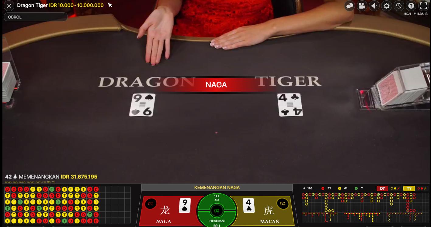 Strategi Menangkan Game Dragon Tiger Online Setiap Ronde